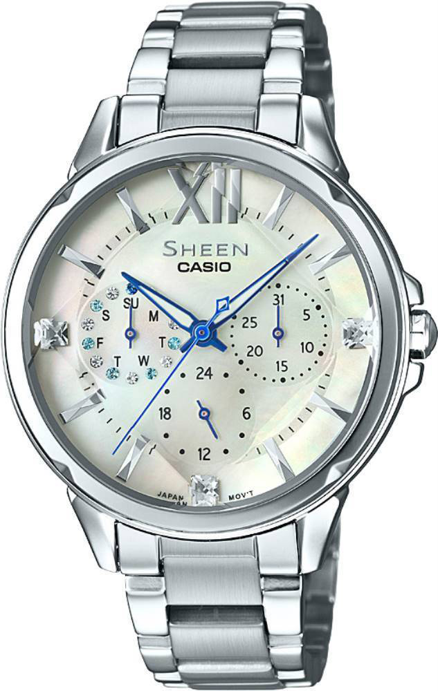 Casio Sheen SHE-3056D-7A casio часы casio she 3049pgl 7a коллекция sheen