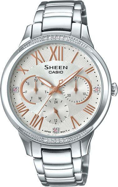 Casio Sheen SHE-3058D-7A casio часы casio she 3049pgl 7a коллекция sheen