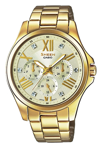 Casio Sheen SHE-3806GD-9A часы casio she 4512pg 9a