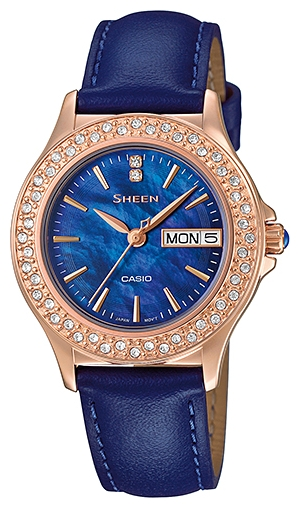 Casio Sheen SHE-4800GL-2A нolika holika ночная маска для лица pig collagen jelly pack 80 г