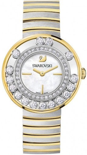Swarovski Lovely Crystals White / Yellow Gold Tone 1187022