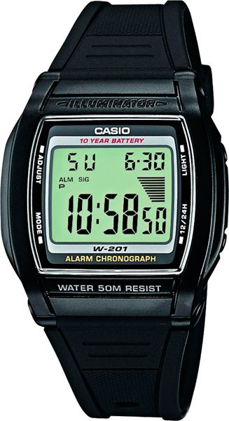 Casio W-201-1A casio w 212hd 1a
