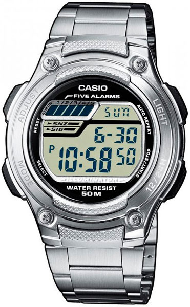 Casio W-212HD-1A электронные часы casio collection w 212hd 1a silver