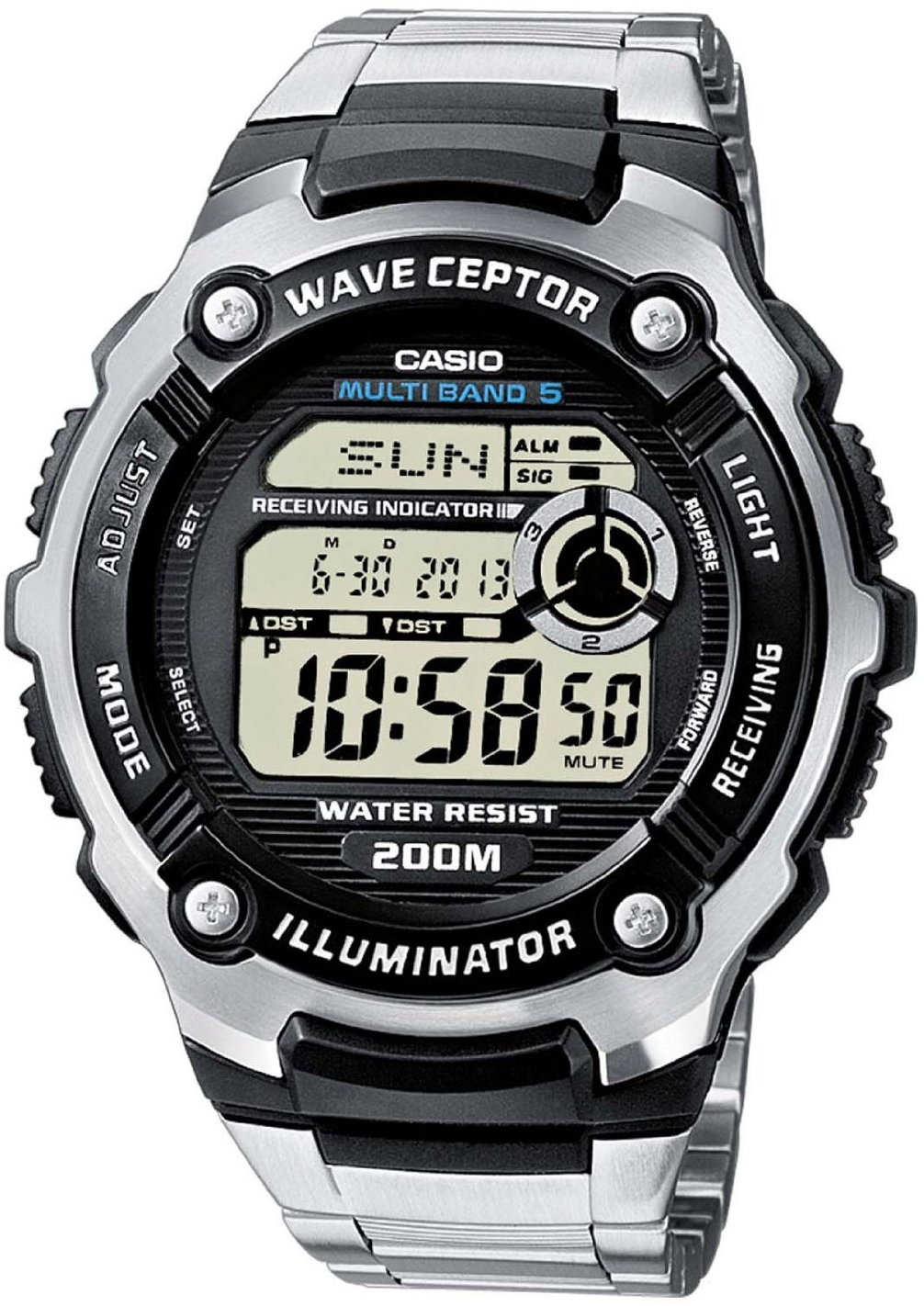Casio Wave Ceptor WV-200DE-1A casio часы casio wv 58e 1a коллекция wave ceptor