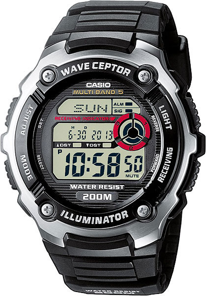 Casio Wave Ceptor WV-200E-1A casio часы casio wv 200e 4a коллекция wave ceptor