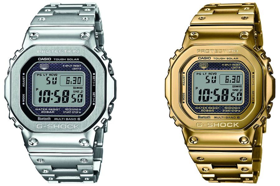 Часы Casio G-Shock GMW-B5000D-1 и Casio G-Shock GMW-B5000TFG-9, дисплей