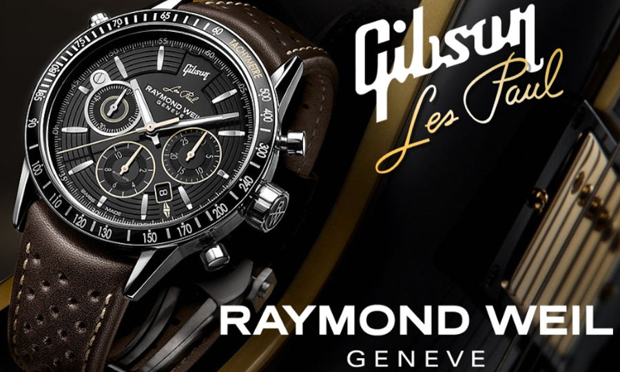 Швейцарские часы Raymond Weil Freelancer Les Paul Gibson, циферблат