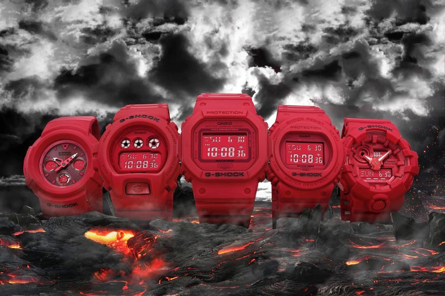Юбилейная коллекция Casio G-Shock Red Out