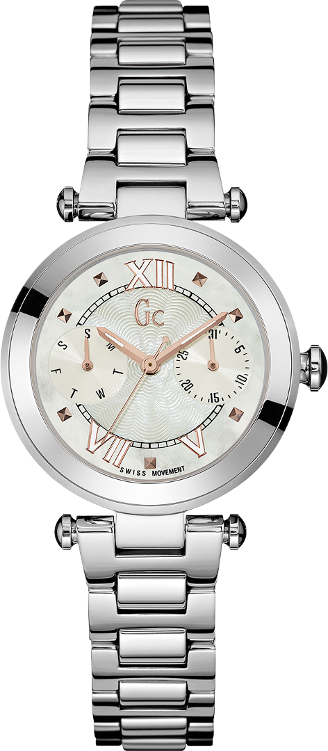 Gc Sport Chic Y06010L1Наручные часы<br>Швейцарские часы Gc Sport Chic Y06010L1<br><br>Пол: Женские<br>Страна-производитель: Швейцария<br>Механизм: Кварцевый<br>Материал корпуса: Сталь<br>Материал ремня/браслета: Сталь<br>Водозащита, диапазон: None<br>Стекло: Минеральное<br>Толщина корпуса: 9,5 мм<br>Стиль: None