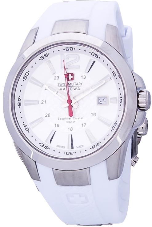 Hanowa Swiss Military Predator 06-4165.04.001Наручные часы<br>Швейцарские часы Hanowa Swiss Military Predator 06-4165.04.001Данная модель входит в коллекцию Predator. Это модные Мужские часы. Материал корпуса часов &amp;mdash; Сталь. Браслет &amp;mdash; Каучук. В этих часах используется Сапфировое стекло. Водозащита этой модели 100 м.<br><br>Пол: Мужские<br>Страна-производитель: Швейцария<br>Механизм: Кварцевый<br>Материал корпуса: Сталь<br>Материал ремня/браслета: Каучук<br>Водозащита, диапазон: 100 - 150 м<br>Стекло: Сапфировое<br>Толщина корпуса: None<br>Стиль: None