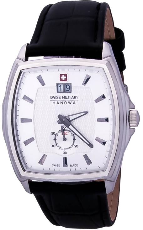 Hanowa Swiss Military Polarstar 06-4173.04.001Наручные часы<br>Швейцарские часы Hanowa Swiss Military Polarstar 06-4173.04.001Представленная модель входит в коллекцию Polarstar. Это модные Мужские часы. Материал корпуса часов — Сталь. Ремень — Кожа. Циферблат часов защищает Минеральное стекло. Часы выдерживают давление на глубине 50 м.<br><br>Пол: Мужские<br>Страна-производитель: Швейцария<br>Механизм: Кварцевый<br>Материал корпуса: Сталь<br>Материал ремня/браслета: Кожа<br>Водозащита, диапазон: 20 - 100 м<br>Стекло: Минеральное<br>Толщина корпуса: None<br>Стиль: None