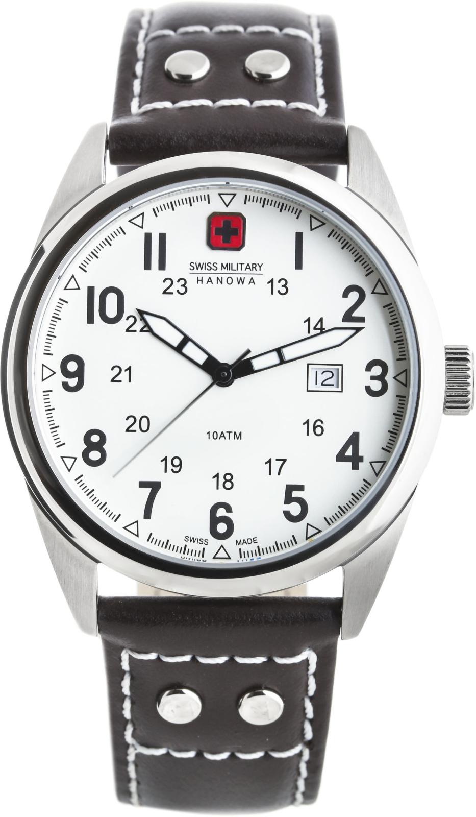 Hanowa Swiss Military Sergeant 06-4181.04.001Наручные часы<br>Швейцарские часы Hanowa Swiss Military Sergeant 06-4181.04.001Часы принадежат коллекции Sergeant. Это великолепные Мужские часы. Материал корпуса часов — Сталь. Ремень — Кожа. Стекло - Минеральное. Водозащита - 100 м.<br><br>Пол: Мужские<br>Страна-производитель: Швейцария<br>Механизм: Кварцевый<br>Материал корпуса: Сталь<br>Материал ремня/браслета: Кожа<br>Водозащита, диапазон: 100 - 150 м<br>Стекло: Минеральное<br>Толщина корпуса: None<br>Стиль: None