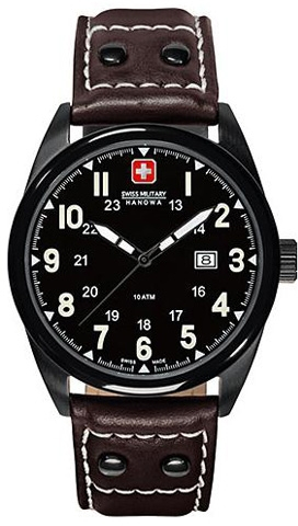 Hanowa Swiss Military Sergeant 06-4181.13.007.05Наручные часы<br>Швейцарские часы Hanowa Swiss Military Sergeant 06-4181.13.007.05Данная модель входит в коллекцию Sergeant. Это Мужские часы. Материал корпуса часов — Сталь. Ремень — Кожа. В этих часах используется Сапфировое стекло. Водозащита - 100 м. Основной цвет циферблата Черный. Из основных функций на циферблате представлены: часы, минуты, секунды. В данной модели используются следующие усложнения: дата, . Размер данной модели 40мм.<br><br>Для кого?: Мужские<br>Страна-производитель: Швейцария<br>Механизм: Кварцевый<br>Материал корпуса: Сталь<br>Материал ремня/браслета: Кожа<br>Водозащита, диапазон: 100 - 150 м<br>Стекло: Сапфировое<br>Толщина корпуса/: <br>Стиль: Классика