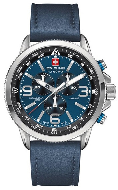 Hanowa Swiss Military Challenge Line 06-4224.04.003Наручные часы<br>Швейцарские часы Hanowa Swiss Military Challenge Line 06-4224.04.003<br><br>Пол: Мужские<br>Страна-производитель: Швейцария<br>Механизм: Кварцевый<br>Материал корпуса: Сталь<br>Материал ремня/браслета: Кожа<br>Водозащита, диапазон: 100 - 150 м<br>Стекло: Сапфировое<br>Толщина корпуса: None<br>Стиль: Спорт