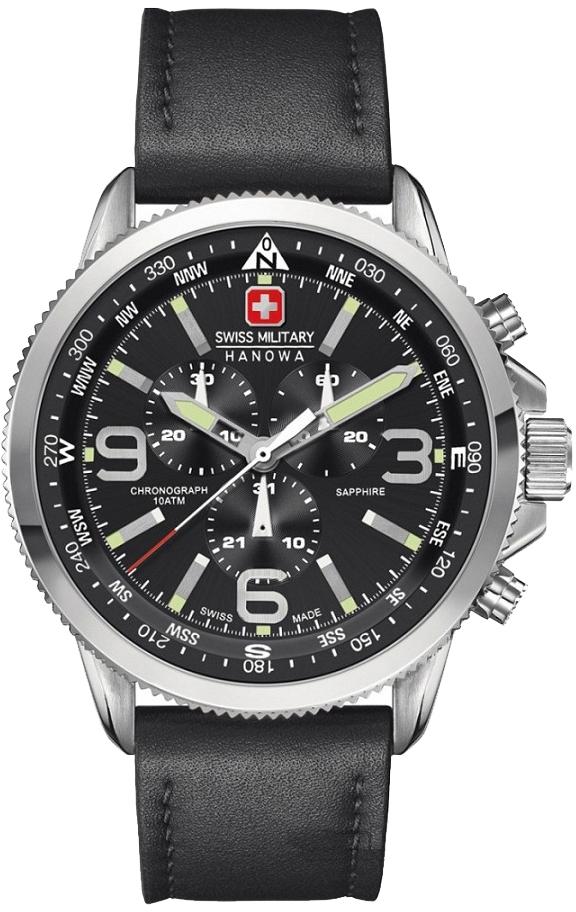 Hanowa Swiss Military Challenge Line 06-4224.04.007Наручные часы<br>Швейцарские часы Hanowa Swiss Military Challenge Line 06-4224.04.007<br><br>Пол: Мужские<br>Страна-производитель: Швейцария<br>Механизм: Кварцевый<br>Материал корпуса: Сталь<br>Материал ремня/браслета: Кожа<br>Водозащита, диапазон: 100 - 150 м<br>Стекло: Сапфировое<br>Толщина корпуса: 12 мм<br>Стиль: Спорт