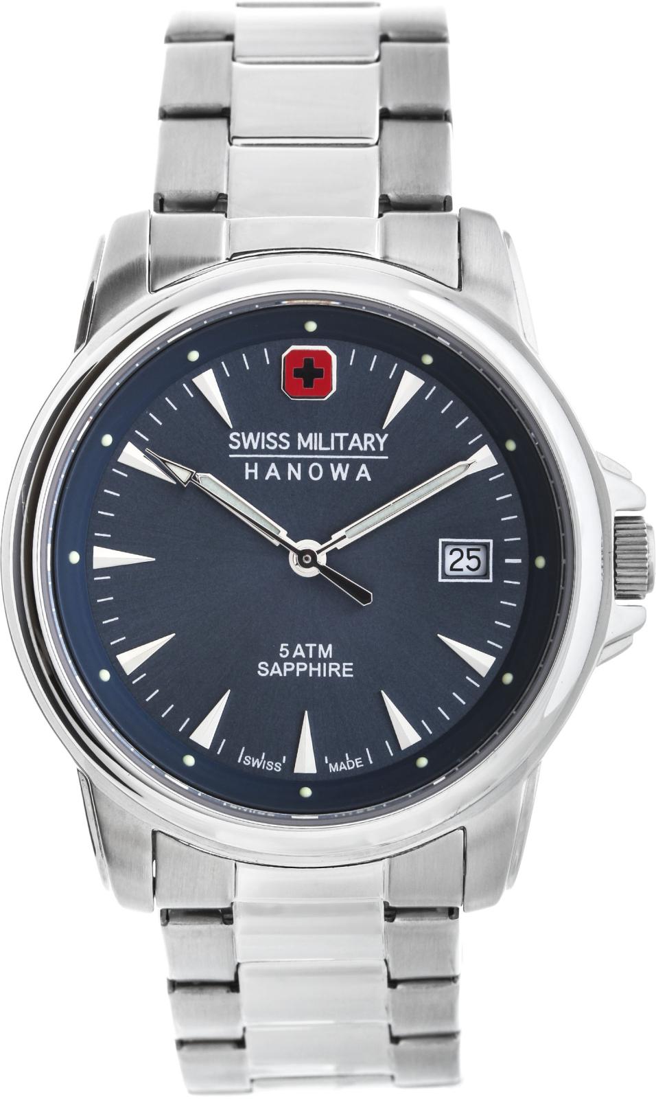 Hanowa Swiss Military Challenge Line 06-5230.04.003Наручные часы<br>Швейцарские часы Hanowa Swiss Military Challenge Line 06-5230.04.003<br><br>Пол: Мужские<br>Страна-производитель: Швейцария<br>Механизм: Кварцевый<br>Материал корпуса: Сталь<br>Материал ремня/браслета: Сталь<br>Водозащита, диапазон: 20 - 100 м<br>Стекло: Сапфировое<br>Толщина корпуса: None<br>Стиль: Классика