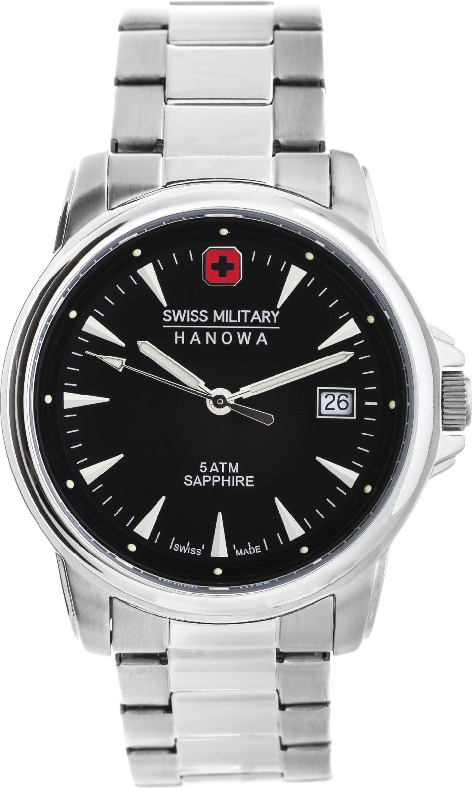 Hanowa Swiss Military Challenge Line 06-5230.04.007Наручные часы<br>Швейцарские часы Hanowa Swiss Military Challenge Line 06-5230.04.007<br><br>Пол: Мужские<br>Страна-производитель: Швейцария<br>Механизм: Кварцевый<br>Материал корпуса: Сталь<br>Материал ремня/браслета: Сталь<br>Водозащита, диапазон: 20 - 100 м<br>Стекло: Сапфировое<br>Толщина корпуса: 10 мм<br>Стиль: Классика