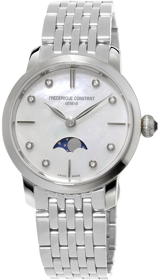 Frederique Constant Slim Line FC-206MPWD1S6BНаручные часы<br>Швейцарские часы Frederique Constant Slim Line FC-206MPWD1S6B<br><br>Пол: Женские<br>Страна-производитель: Швейцария<br>Механизм: Кварцевый<br>Материал корпуса: Сталь<br>Материал ремня/браслета: Сталь<br>Водозащита, диапазон: 20 - 100 м<br>Стекло: Сапфировое<br>Толщина корпуса: 8 мм<br>Стиль: Классика