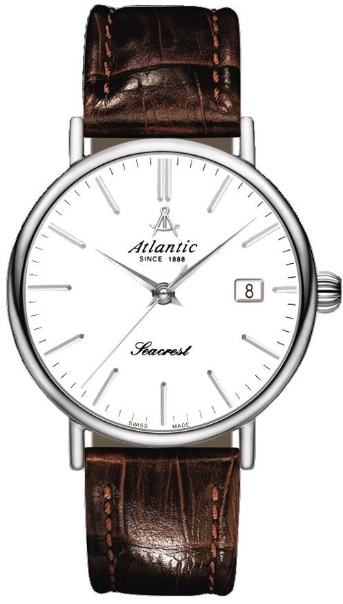 Atlantic Seacrest 50756.43.21RНаручные часы<br>Швейцарские часы Atlantic Seacrest 50756.43.21R<br><br>Пол: Мужские<br>Страна-производитель: Швейцария<br>Механизм: Механический<br>Материал корпуса: Сталь<br>Материал ремня/браслета: Сталь+золото<br>Водозащита, диапазон: 20 - 100 м<br>Стекло: Сапфировое<br>Толщина корпуса: None<br>Стиль: Классика