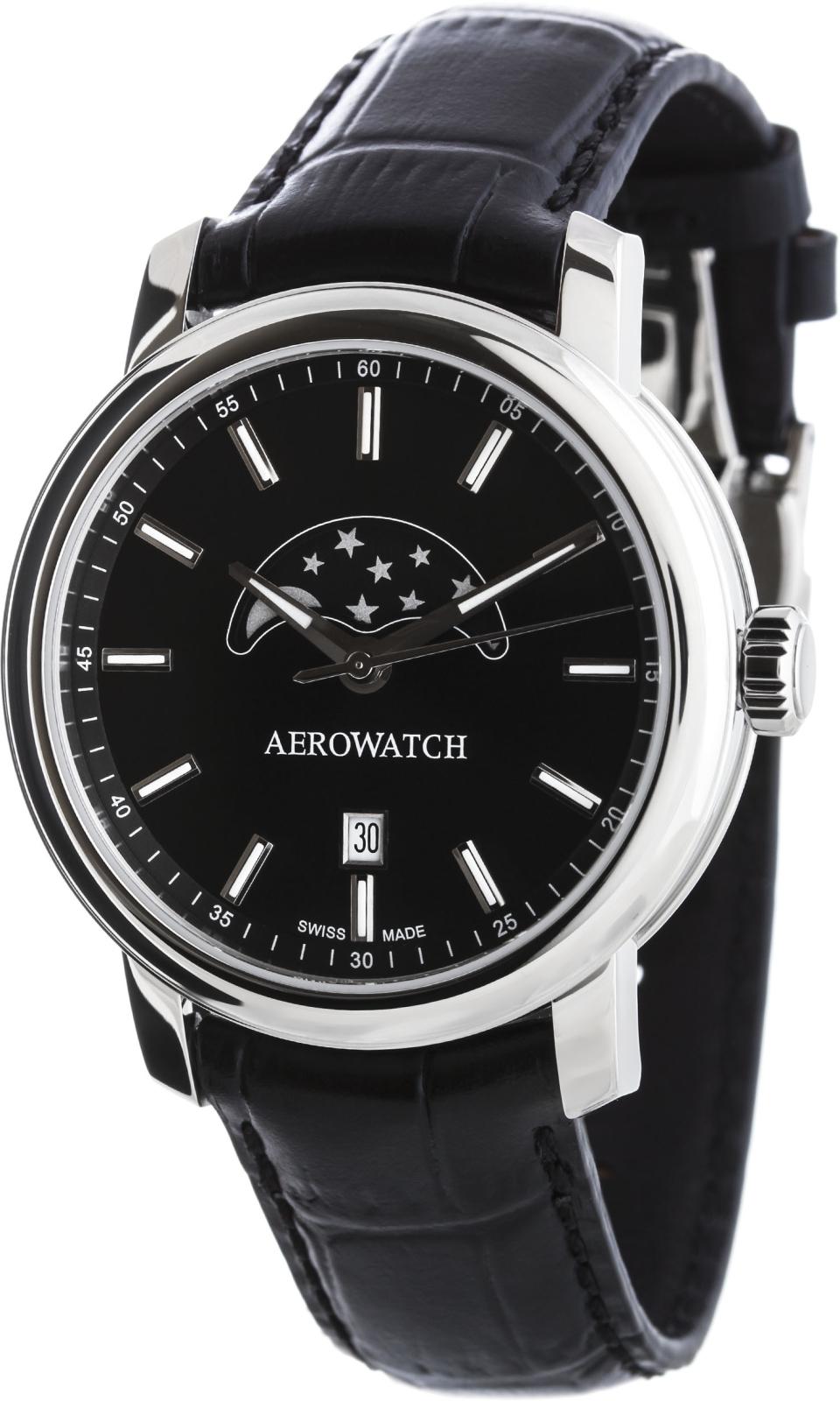 Aerowatch Renaissance 08937 AA02Наручные часы<br>Швейцарские часы Aerowatch Renaissance 08937 AA02<br><br>Пол: Мужские<br>Страна-производитель: Швейцария<br>Механизм: Кварцевый<br>Материал корпуса: Сталь<br>Материал ремня/браслета: Кожа<br>Водозащита, диапазон: None<br>Стекло: Сапфировое<br>Толщина корпуса: None<br>Стиль: None