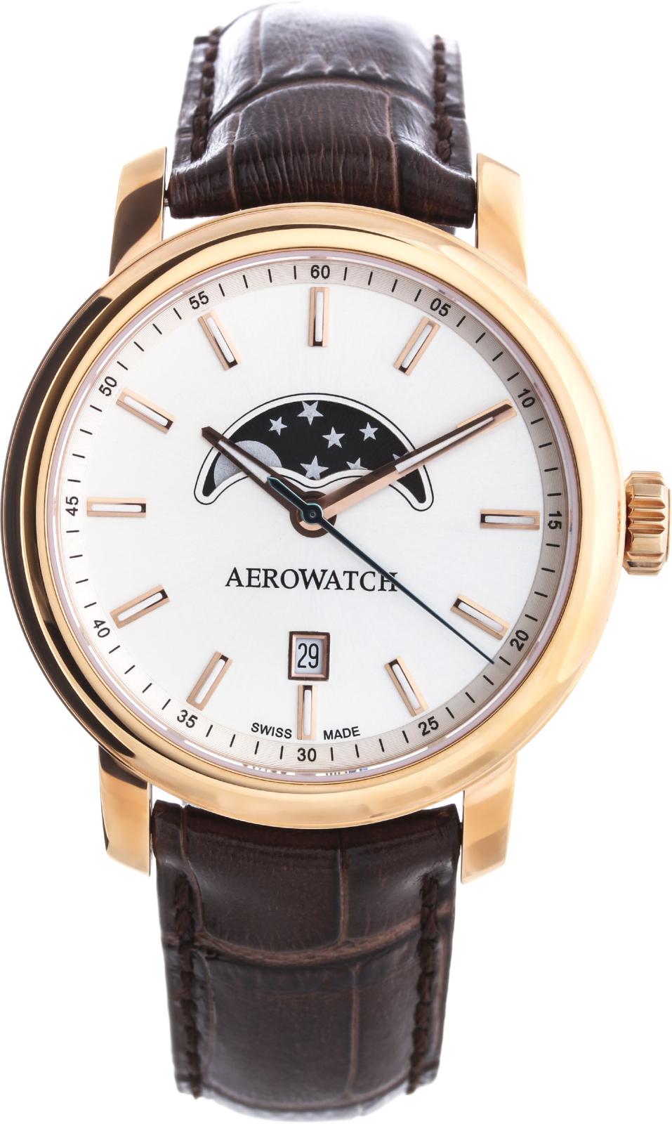 Aerowatch Renaissance 08937 RO01Наручные часы<br>Швейцарские часы Aerowatch Renaissance 08937 RO01<br><br>Пол: Мужские<br>Страна-производитель: Швейцария<br>Механизм: Кварцевый<br>Материал корпуса: Сталь<br>Материал ремня/браслета: Кожа<br>Водозащита, диапазон: None<br>Стекло: Сапфировое<br>Толщина корпуса: None<br>Стиль: None