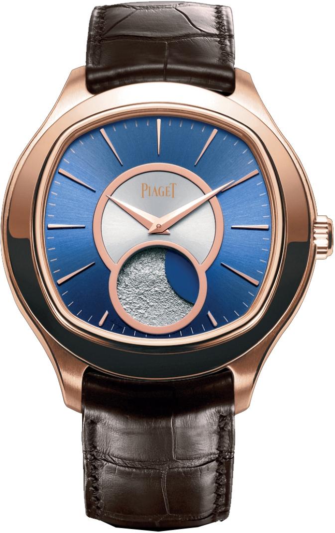 Piaget Emperador Coussin XL G0A34022Наручные часы<br>Швейцарские часы Piaget Emperador Coussin XL G0A34022Часы входят в модельный ряд коллекции Emperador Coussin XL. Это великолепные мужские часы. Материал корпуса часов &amp;mdash; золото. Циферблат часов защищает сапфировое стекло. Водозащита этой модели 30 м . Основной цвет циферблата синий. Из основных функций на циферблате представлены: часы, минуты. В этих часах используются такие усложнения как фаза луны, . Часы обладают корпусом 46,5мм.<br><br>Пол: Мужские<br>Страна-производитель: Швейцария<br>Механизм: Механический<br>Материал корпуса: Золото<br>Материал ремня/браслета: Кожа<br>Водозащита, диапазон: 20 - 100 м<br>Стекло: Сапфировое<br>Толщина корпуса: None<br>Стиль: Классика