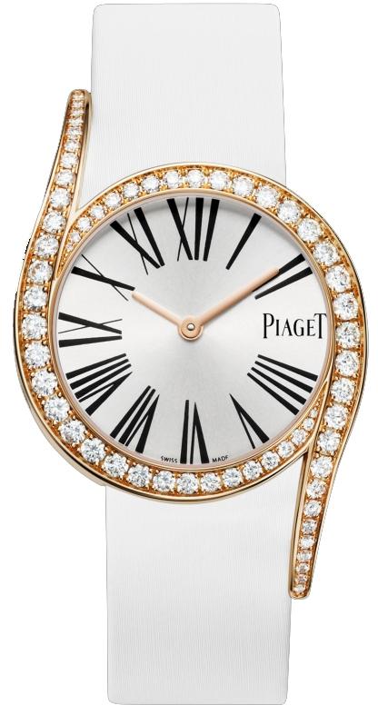 Piaget Limelight Gala G0A38161Наручные часы<br>Швейцарские часы Piaget Limelight Gala G0A38161Представленная модель входит в коллекцию Limelight Gala. Это настоящие женские часы. Материал корпуса часов — золото. В этой модели стоит сапфировое стекло. Часы этой модели обладают водозащитой 30 м.<br><br>Для кого?: Женские<br>Страна-производитель: Швейцария<br>Механизм: Кварцевый<br>Материал корпуса: Золото<br>Материал ремня/браслета: Текстиль<br>Водозащита, диапазон: 20 - 100 м<br>Стекло: Сапфировое<br>Толщина корпуса/: <br>Стиль/: