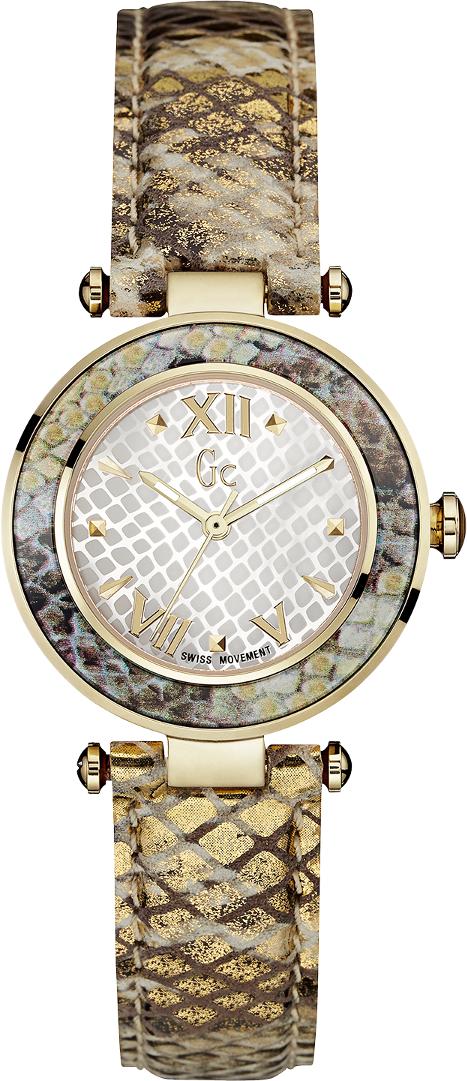 Gc Sport Chic Y10003L1Наручные часы<br>Швейцарские часы Gc Sport Chic Y10003L1<br><br>Пол: Женские<br>Страна-производитель: Швейцария<br>Механизм: Кварцевый<br>Материал корпуса: Сталь<br>Материал ремня/браслета: Кожа<br>Водозащита, диапазон: None<br>Стекло: Минеральное<br>Толщина корпуса: None<br>Стиль: None