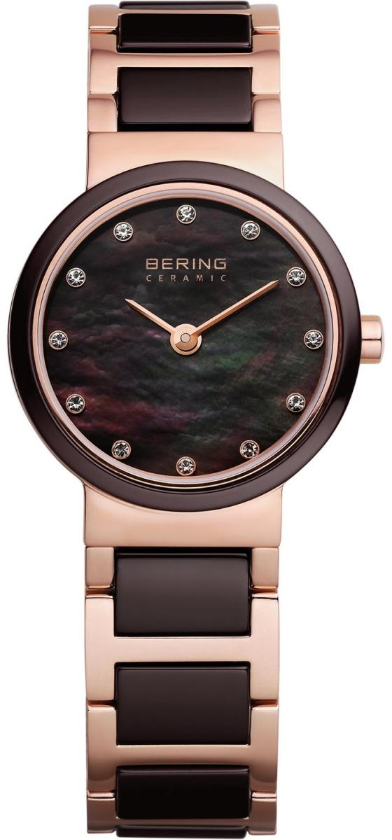 Bering Ceramic 10725-765Наручные часы<br>Датские часы Bering Ceramic 10725-765<br><br>Пол: Женские<br>Страна-производитель: Дания<br>Механизм: Кварцевый<br>Материал корпуса: Сталь<br>Материал ремня/браслета: Сталь+керамика<br>Водозащита, диапазон: 20 - 100 м<br>Стекло: Сапфировое<br>Толщина корпуса: 6 мм<br>Стиль: Классика