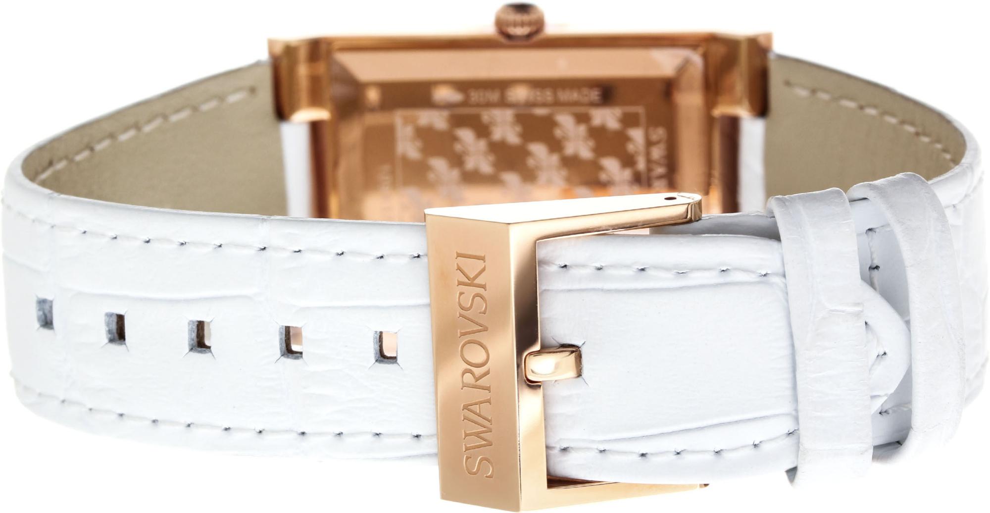 Swarovski Citra Square White Rose Gold Tone 1094370Наручные часы<br>Швейцарские часы Swarovski Citra Square White Rose Gold Tone 1094370<br><br>Пол: Женские<br>Страна-производитель: Швейцария<br>Механизм: Кварцевый<br>Материал корпуса: Сталь<br>Материал ремня/браслета: Кожа<br>Водозащита, диапазон: 20 - 100 м<br>Стекло: Сапфировое<br>Толщина корпуса: 7мм<br>Стиль: Мода