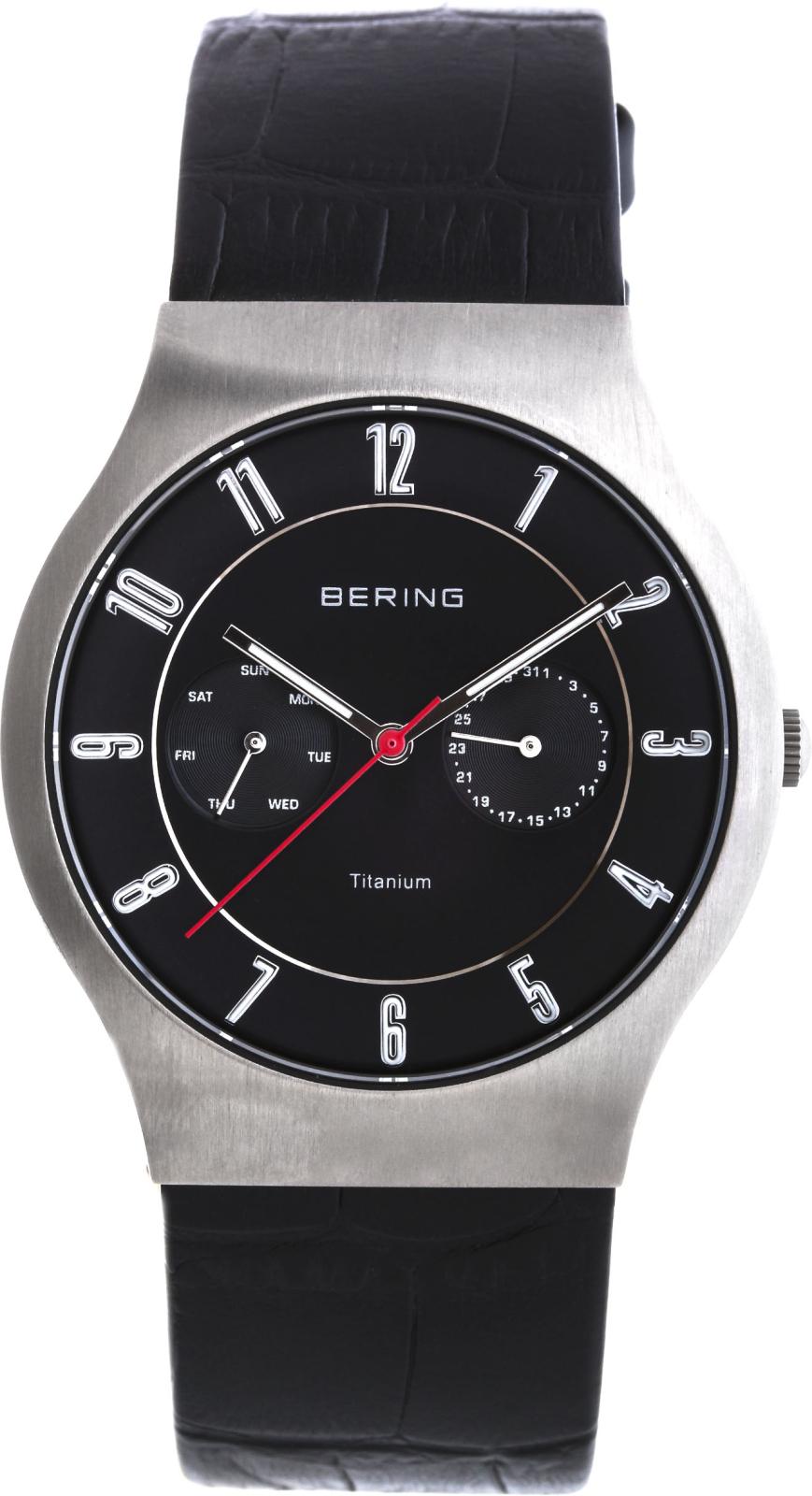 Bering Titanium 11939-472Наручные часы<br>Датские часы Bering Titanium 11939-472<br><br>Пол: Мужские<br>Страна-производитель: Дания<br>Механизм: Кварцевый<br>Материал корпуса: Титан<br>Материал ремня/браслета: Кожа<br>Водозащита, диапазон: 20 - 100 м<br>Стекло: Сапфировое<br>Толщина корпуса: None<br>Стиль: Классика