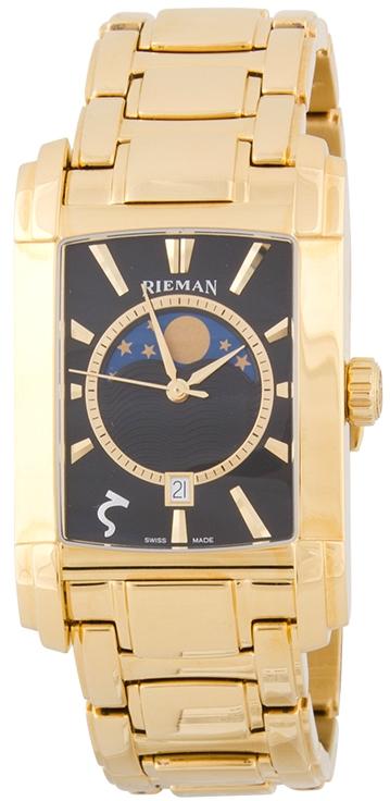 Rieman Integrale Gents R1321.334.035Наручные часы<br>Швейцарские часы Rieman Integrale Gents R1321.334.035Модель входит в коллекцию Integrale Gents. Это мужские часы. Материал корпуса часов &amp;mdash; сталь+золото. Стекло - сапфировое. Водозащита этой модели 30 м. Основной цвет циферблата черный. Циферблат часов содержит часы, минуты, секунды. В этой модели используются такие усложнения как дата, фаза луны, . Размер данной модели 31.3х49мм.<br><br>Пол: Мужские<br>Страна-производитель: Швейцария<br>Механизм: Кварцевый<br>Материал корпуса: Сталь+Золото<br>Материал ремня/браслета: Сталь+Золото<br>Водозащита, диапазон: 20 - 100 м<br>Стекло: Сапфировое<br>Толщина корпуса: None<br>Стиль: Классика