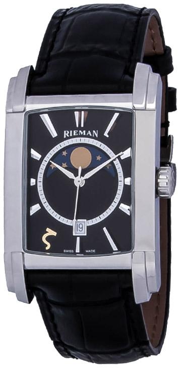 Rieman Integrale Gents R1340.334.212Наручные часы<br>Швейцарские часы Rieman Integrale Gents R1340.334.212Представленная модель входит в коллекцию Integrale Gents. Это настоящие мужские часы. Материал корпуса часов &amp;mdash; сталь. В этих часах используется сапфировое стекло. Водозащита - 30 м. Основной цвет циферблата черный. Из основных функций на циферблате представлены: часы, минуты, секунды. В этой модели используются такие усложнения как дата, фаза луны, . Диаметр корпуса часов составляет 31.3х49мм.<br><br>Пол: Мужские<br>Страна-производитель: Швейцария<br>Механизм: Кварцевый<br>Материал корпуса: Сталь<br>Материал ремня/браслета: Кожа<br>Водозащита, диапазон: 20 - 100 м<br>Стекло: Сапфировое<br>Толщина корпуса: None<br>Стиль: Классика