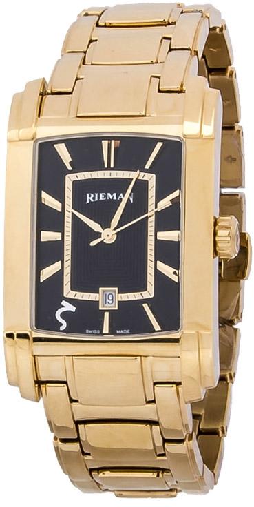 Rieman Integrale Gents R1421.134.035Наручные часы<br>Швейцарские часы Rieman Integrale Gents R1421.134.035Часы принадежат коллекции Integrale Gents. Это стильные мужские часы. Материал корпуса часов — сталь+золото. Стекло - сапфировое. Часы выдерживают давление на глубине 30 м. Основной цвет циферблата черный. Циферблат содержит часы, минуты, секунды. В данной модели используются следующие усложнения: дата, . Диаметр корпуса часов составляет 31.3х49мм.<br><br>Для кого?: Мужские<br>Страна-производитель: Швейцария<br>Механизм: Кварцевый<br>Материал корпуса: Сталь+Золото<br>Материал ремня/браслета: Сталь+Золото<br>Водозащита, диапазон: 20 - 100 м<br>Стекло: Сапфировое<br>Толщина корпуса/: <br>Стиль: Классика