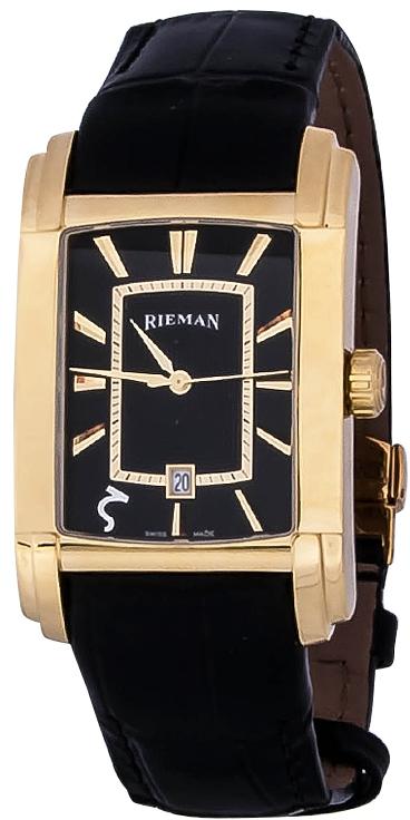 Rieman Integrale Gents R1421.134.215Наручные часы<br>Швейцарские часы Rieman Integrale Gents R1421.134.215Часы входят в модельный ряд коллекции Integrale Gents. Это мужские часы. Материал корпуса часов &amp;mdash; сталь+золото. В этих часах используется сапфировое стекло. Часы выдерживают давление на глубине 30 м. Цвет циферблата - черный. Циферблат часов содержит часы, минуты, секунды. В этих часах используются такие усложнения как дата, . Размер данной модели 31.3х49мм.<br><br>Пол: Мужские<br>Страна-производитель: Швейцария<br>Механизм: Кварцевый<br>Материал корпуса: Сталь+Золото<br>Материал ремня/браслета: Кожа<br>Водозащита, диапазон: 20 - 100 м<br>Стекло: Сапфировое<br>Толщина корпуса: None<br>Стиль: Классика