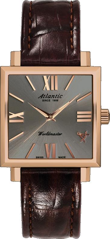Atlantic Worldmaster 14350.44.48Наручные часы<br>Швейцарские часы 88 Rue Du Rhone Worldmaster 14350.44.48Модель входит в коллекцию Worldmaster. Это настоящие женские часы. Материал корпуса часов &amp;mdash; сталь. В этой модели стоит минеральное стекло. Водозащита - 30 м. Цвет циферблата - серый. Из основных функций на циферблате представлены: часы, минуты, секунды. В этой модели используются такие усложнения как дата, . Диаметр корпуса часов составляет 29х29мм.<br><br>Пол: Женские<br>Страна-производитель: None<br>Механизм: Кварцевый<br>Материал корпуса: Сталь<br>Материал ремня/браслета: Кожа<br>Водозащита, диапазон: None<br>Стекло: Минеральное<br>Толщина корпуса: None<br>Стиль: Классика