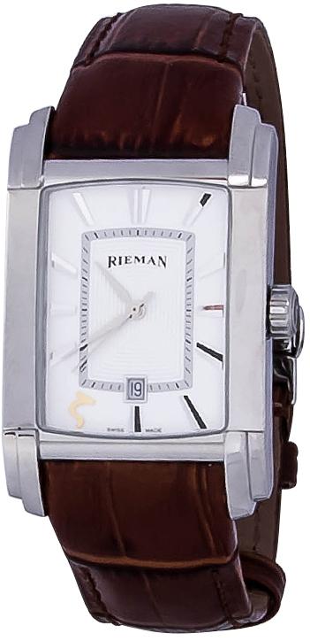 Rieman Integrale Gents R1440.124.222Наручные часы<br>Швейцарские часы Rieman Integrale Gents R1440.124.222Представленная модель входит в коллекцию Integrale Gents. Это стильные мужские часы. Материал корпуса часов &amp;mdash; сталь. Циферблат часов защищает сапфировое стекло. Водозащита этих часов 30 м. Цвет циферблата - белый. Из основных функций на циферблате представлены: часы, минуты, секунды. В данной модели используются следующие усложнения: дата, . Диаметр корпуса часов составляет 31.3х49мм.<br><br>Пол: Мужские<br>Страна-производитель: Швейцария<br>Механизм: Кварцевый<br>Материал корпуса: Сталь<br>Материал ремня/браслета: Кожа<br>Водозащита, диапазон: 20 - 100 м<br>Стекло: Сапфировое<br>Толщина корпуса: None<br>Стиль: Классика