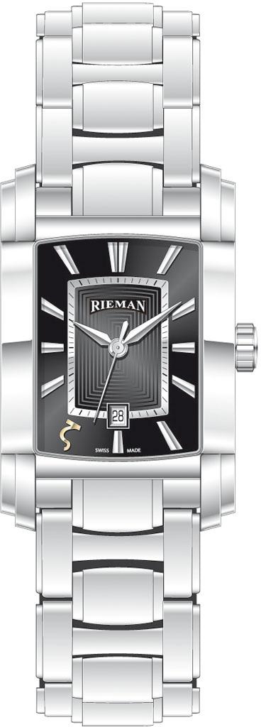 Rieman Integrale Gents R1440.134.012Наручные часы<br>Швейцарские часы Rieman Integrale Gents R1440.134.012Данная модель входит в коллекцию Integrale Gents. Это мужские часы. Материал корпуса часов &amp;mdash; сталь. Циферблат часов защищает сапфировое стекло. Часы этой модели обладают водозащитой 30 м. Основной цвет циферблата черный. Циферблат модели содержит часы, минуты, секунды. В данной модели используются следующие усложнения: дата, . Диаметр корпуса 31.3х49мм.<br><br>Пол: Мужские<br>Страна-производитель: Швейцария<br>Механизм: Кварцевый<br>Материал корпуса: Сталь<br>Материал ремня/браслета: Сталь<br>Водозащита, диапазон: 20 - 100 м<br>Стекло: Сапфировое<br>Толщина корпуса: None<br>Стиль: Классика