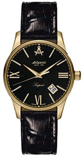 Atlantic Seaport 16350.45.65Наручные часы<br>Швейцарские часы Atlantic Seaport 16350.45.65<br><br>Пол: Женские<br>Страна-производитель: Швейцария<br>Механизм: Кварцевый<br>Материал корпуса: Сталь<br>Материал ремня/браслета: Кожа<br>Водозащита, диапазон: 20 - 100 м<br>Стекло: Сапфировое<br>Толщина корпуса: None<br>Стиль: Классика