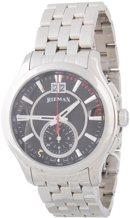 Rieman Chrono Sfero R1740.230.012Наручные часы<br>Швейцарские часы Rieman Chrono Sfero R1740.230.012Данная модель входит в коллекцию Chrono Sfero. Это мужские часы. Материал корпуса часов — сталь. В этих часах используется сапфировое стекло. Водозащита этой модели 30 м. Цвет циферблата - черный. Циферблат модели содержит часы, минуты, секунды. В этой модели используются такие усложнения как дата, . Диаметр корпуса 42мм.<br><br>Пол: Мужские<br>Страна-производитель: Швейцария<br>Механизм: Кварцевый<br>Материал корпуса: Сталь<br>Материал ремня/браслета: Сталь<br>Водозащита, диапазон: 20 - 100 м<br>Стекло: Сапфировое<br>Толщина корпуса: None<br>Стиль: Классика