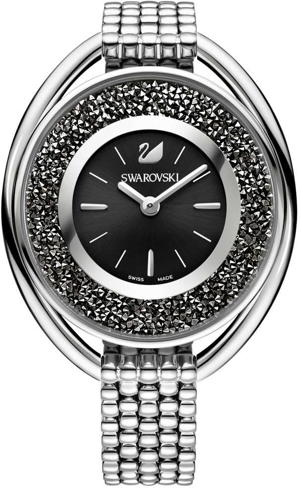 Swarovski 5181664Наручные часы<br>Швейцарские часыSwarovskiCrystalline Oval Black Bracelet Watch5181664<br><br>Пол: Женские<br>Страна-производитель: Швейцария<br>Механизм: Кварцевый<br>Материал корпуса: Сталь<br>Материал ремня/браслета: Сталь<br>Водозащита, диапазон: 20 - 100 м<br>Стекло: Минеральное<br>Толщина корпуса: None<br>Стиль: Мода