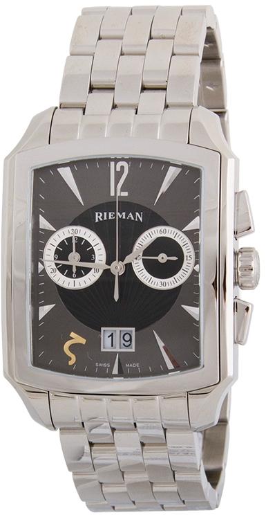 Rieman Chrono Integrale R1940.236.012Наручные часы<br>Швейцарские часы Rieman Chrono Integrale R1940.236.012Модель входит в коллекцию Chrono Integrale. Это мужские часы. Материал корпуса часов &amp;mdash; сталь. В этих часах используется сапфировое стекло. Водозащита этих часов 30 м. Основной цвет циферблата черный. Циферблат содержит часы, минуты, секунды. В данной модели используются следующие усложнения: дата, . Корпус часов в диаметре 35х49.5мм.<br><br>Пол: Мужские<br>Страна-производитель: Швейцария<br>Механизм: Кварцевый<br>Материал корпуса: Сталь<br>Материал ремня/браслета: Сталь<br>Водозащита, диапазон: 20 - 100 м<br>Стекло: Сапфировое<br>Толщина корпуса: None<br>Стиль: Классика