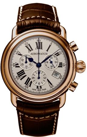 Aerowatch 1942 83926 RO01Наручные часы<br>Швейцарские часы Aerowatch 1942 83926 RO01Часы принадежат коллекции 1942. Это великолепные Мужские часы. Материал корпуса часов &amp;mdash; Сталь+Золото. Ремень &amp;mdash; Кожа. Стекло - Сапфировое. Часы выдерживают давление на глубине 50 м.<br><br>Пол: Мужские<br>Страна-производитель: Швейцария<br>Механизм: Кварцевый<br>Материал корпуса: Сталь+Золото<br>Материал ремня/браслета: Кожа<br>Водозащита, диапазон: 20 - 100 м<br>Стекло: Сапфировое<br>Толщина корпуса: None<br>Стиль: None