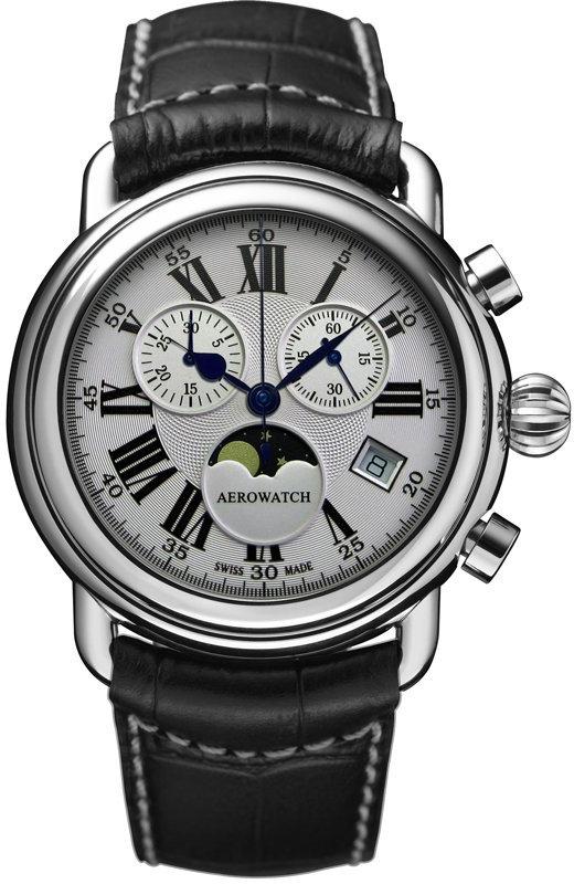 Aerowatch 1942 84934 AA01Наручные часы<br>Швейцарские часы Aerowatch 1942 84934 AA01<br><br>Пол: Мужские<br>Страна-производитель: Швейцария<br>Механизм: Кварцевый<br>Материал корпуса: Сталь<br>Материал ремня/браслета: Кожа<br>Водозащита, диапазон: 20 - 100 м<br>Стекло: Сапфировое<br>Толщина корпуса: None<br>Стиль: Спорт