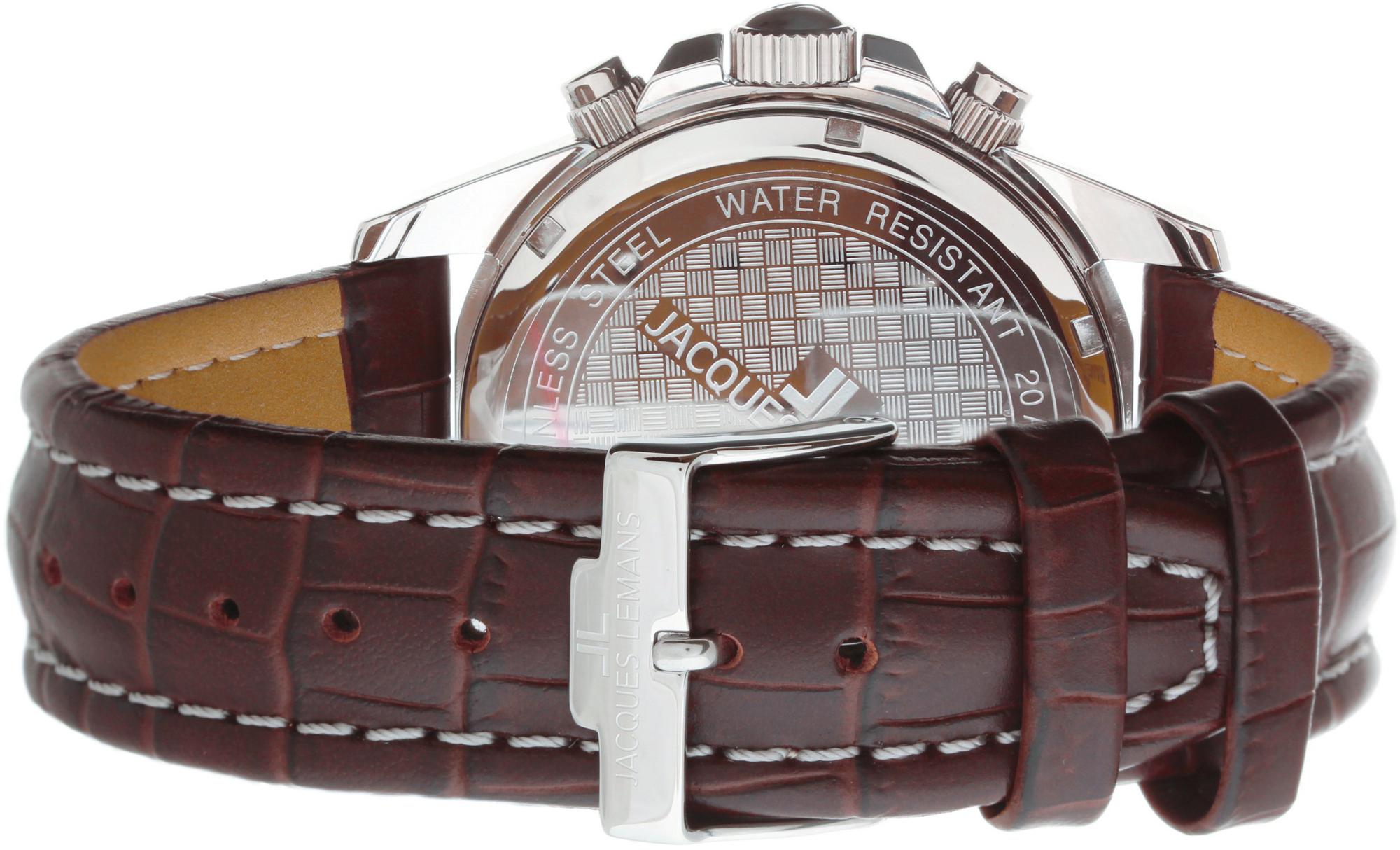 Jacques Lemans Liverpool 1-1117WNНаручные часы<br>Австрийские часы Jacques Lemans Liverpool 1-1117WN<br><br>Пол: Мужские<br>Страна-производитель: Австрия<br>Механизм: Кварцевый<br>Материал корпуса: Сталь<br>Материал ремня/браслета: Кожа<br>Водозащита, диапазон: None<br>Стекло: Минеральное<br>Толщина корпуса: None<br>Стиль: None
