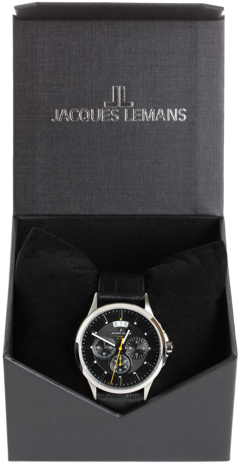 Jacques Lemans Sydney 1-1542AНаручные часы<br>Австрийские часы Jacques Lemans Sydney 1-1542A<br><br>Пол: Мужские<br>Страна-производитель: Австрия<br>Механизм: Кварцевый<br>Материал корпуса: Сталь<br>Материал ремня/браслета: Кожа<br>Водозащита, диапазон: None<br>Стекло: Минеральное<br>Толщина корпуса: None<br>Стиль: None