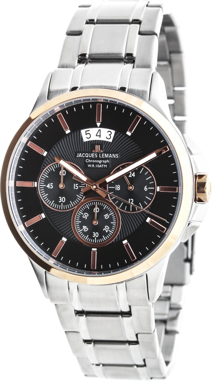 Jacques Lemans Sydney 1-1542JНаручные часы<br>Австрийские часы Jacques Lemans Sydney 1-1542J<br><br>Пол: Мужские<br>Страна-производитель: Австрия<br>Механизм: Кварцевый<br>Материал корпуса: Сталь<br>Материал ремня/браслета: Сталь<br>Водозащита, диапазон: None<br>Стекло: Минеральное<br>Толщина корпуса: None<br>Стиль: None