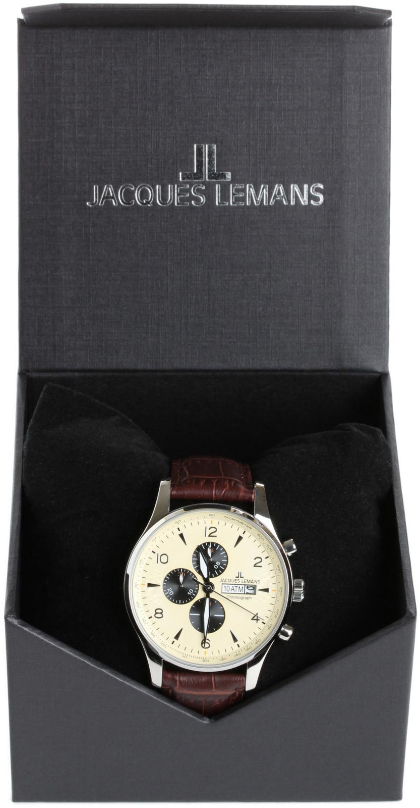 Jacques Lemans London 1-1844CНаручные часы<br>Австрийские часы Jacques Lemans London 1-1844C<br><br>Пол: Мужские<br>Страна-производитель: Австрия<br>Механизм: Кварцевый<br>Материал корпуса: Сталь<br>Материал ремня/браслета: Кожа<br>Водозащита, диапазон: None<br>Стекло: Минеральное<br>Толщина корпуса: None<br>Стиль: None