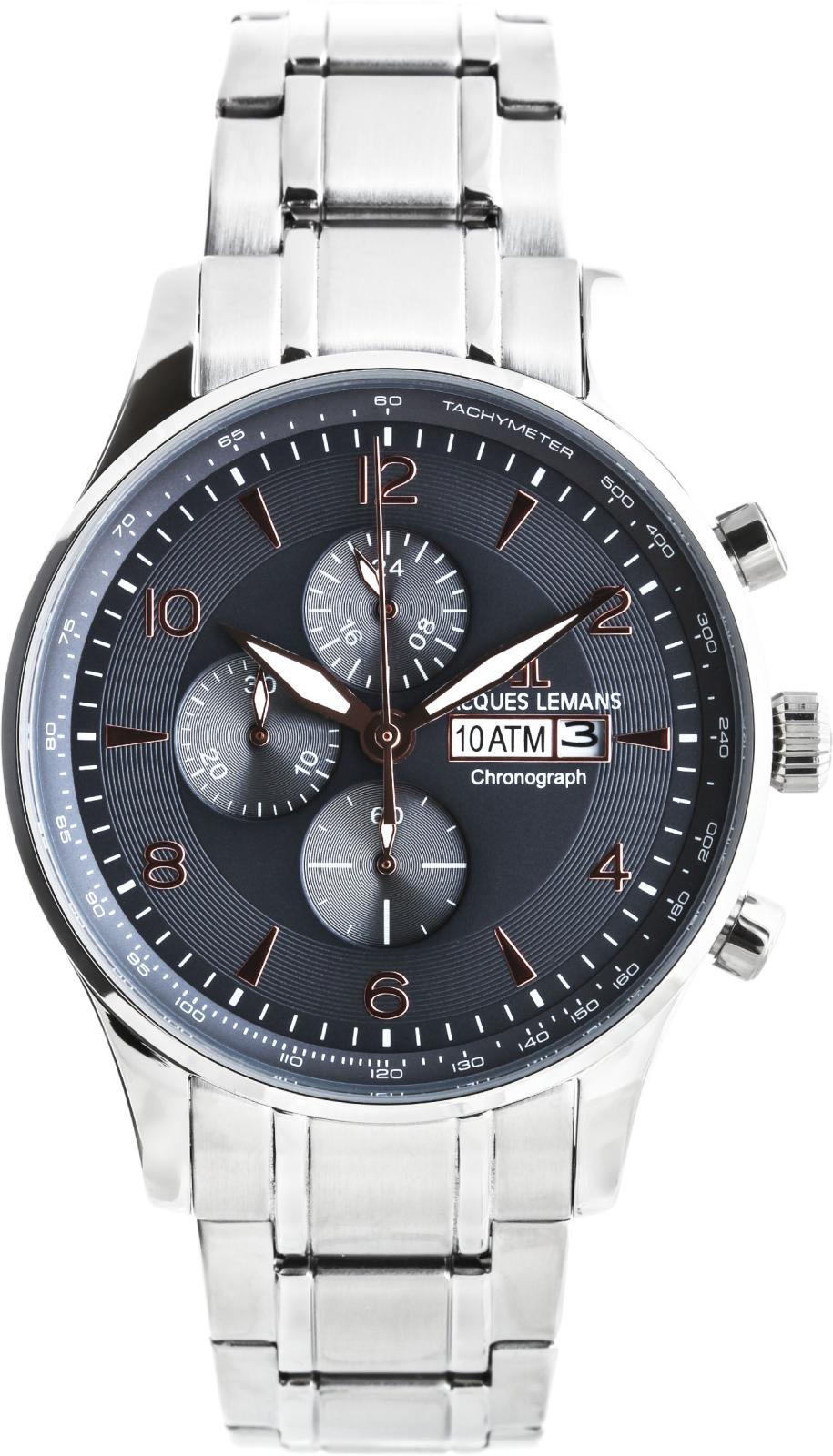 Jacques Lemans London 1-1844KНаручные часы<br>Австрийские часы Jacques Lemans London 1-1844K<br><br>Пол: Мужские<br>Страна-производитель: Австрия<br>Механизм: Кварцевый<br>Материал корпуса: Сталь<br>Материал ремня/браслета: Сталь<br>Водозащита, диапазон: None<br>Стекло: Минеральное<br>Толщина корпуса: None<br>Стиль: None