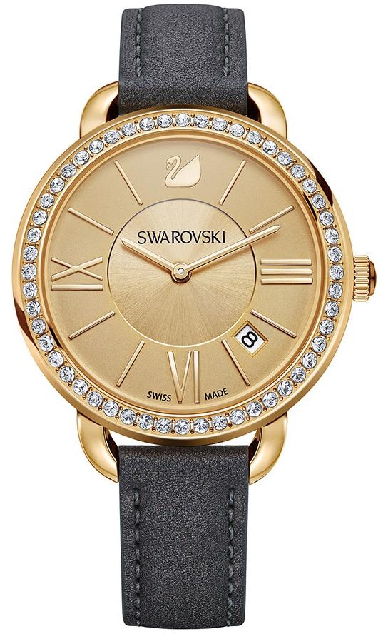 Swarovski Aila Day Gold Tone 5221141Наручные часы<br>Швейцарские часы Swarovski Aila Day Gold Tone<br><br>Пол: Женские<br>Страна-производитель: Швейцария<br>Механизм: None<br>Материал корпуса: Сталь<br>Материал ремня/браслета: Кожа<br>Водозащита, диапазон: None<br>Стекло: None<br>Толщина корпуса: None<br>Стиль: None